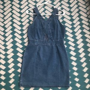 Fitted Denim Dress